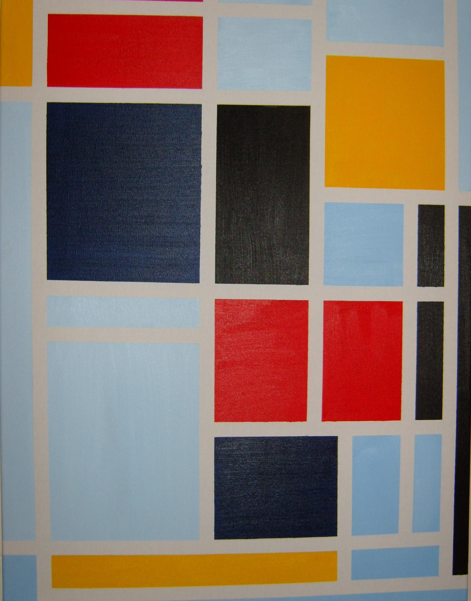 Leo Mondriaan 80x60cm  te koop