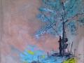 Blue sky  80x60cm  te koop