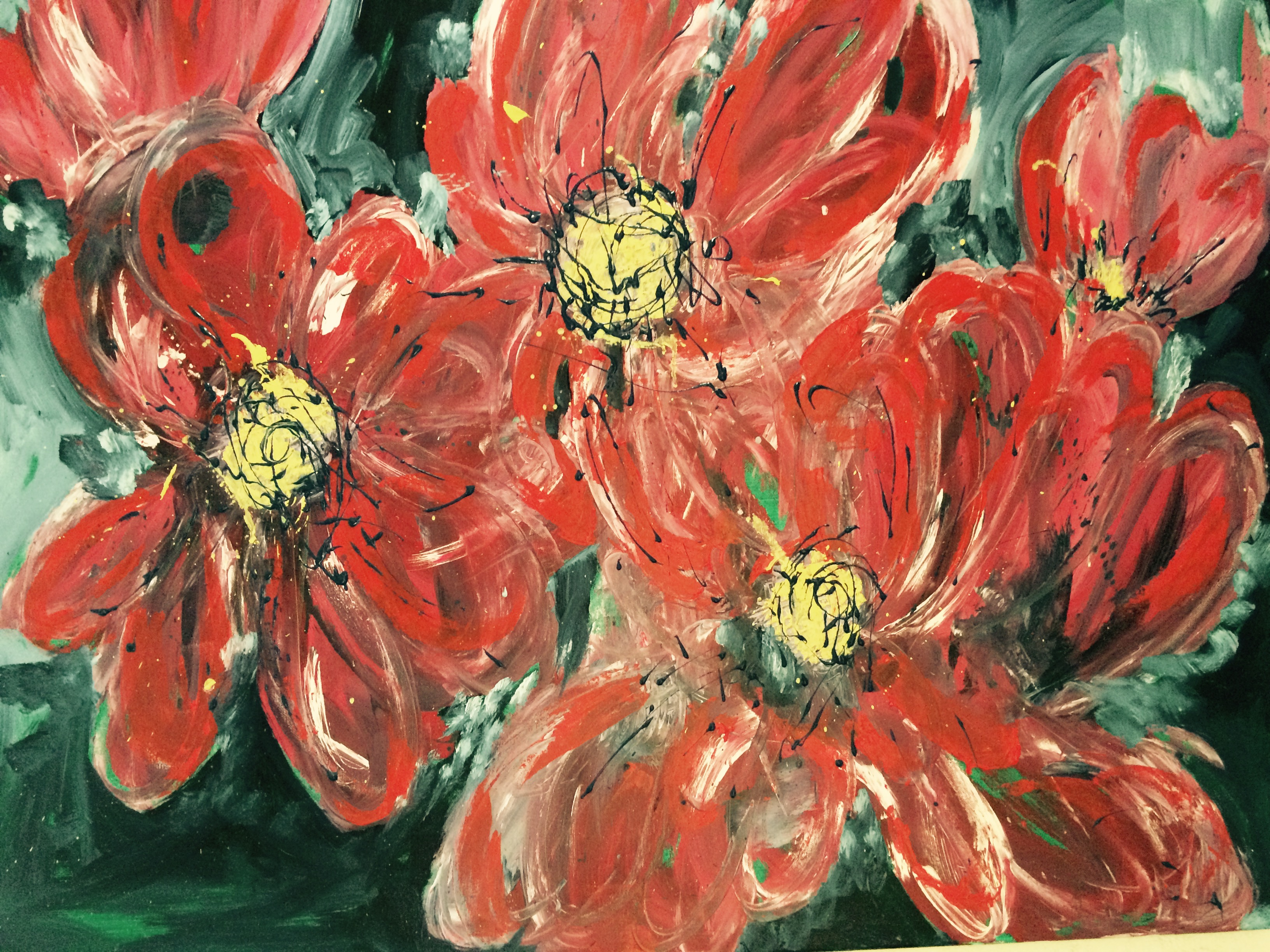 """""""Flowers"""" 80x100cm niet te koop"""